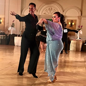Competitive ballroom dance pair